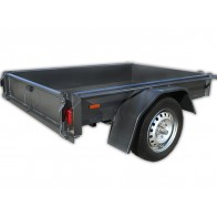 6x4 Standard Box Trailer with 250mm sides, 3 leaf springs