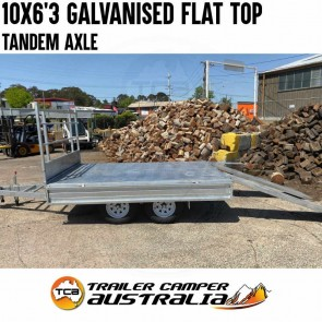 10x6'3 Galvanised Tandem Flat Top Trailer