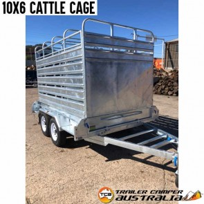 10x6 Galvanised Cattle Cage Trailer