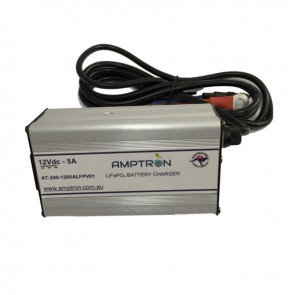 Amptron 5A 12V Lithium LiFePO4 Battery Charger