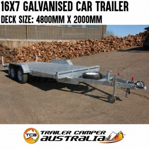 16x7 Galvanised Car Trailer