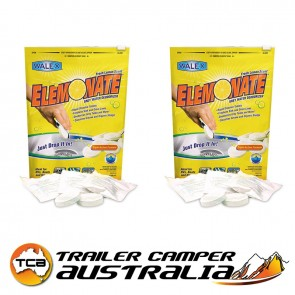2 X Walex Elemonate Porta Pak Toilet Chemical Sachets