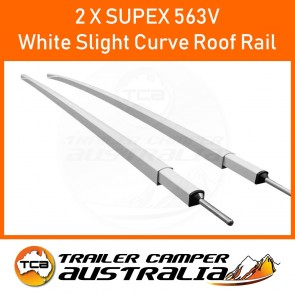 2 x Supex Slight Curve Roof Rail White