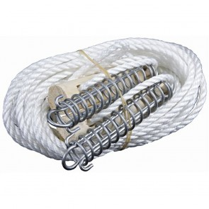 Double Spring Guy Rope Kit with Wood Slide 6mm rope