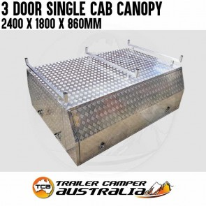 Aluminium Single Cab Canopy 3 Door 2.1 x 1.8 x 0.86m