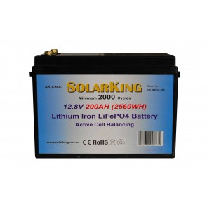 Solarking 200Ah 12V Lithium Iron Battery LiFePo4