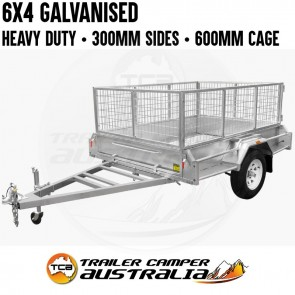 6x4 Galvanised Box Trailer with 600mm Cage