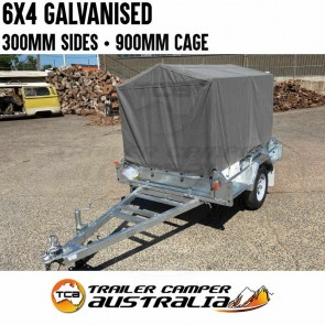 6x4 Galvanised Trailer With Canvas Cover