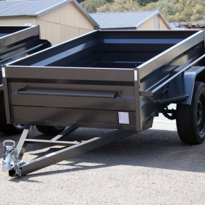 7x4 Commercial Box Trailer with High 500mm Sides, Box Chassis, 5 Leaf springs