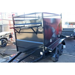 8x5 Tandem Axle Barn Door Tradesman Trailer - 2 Tonne GVM, Electric brakes