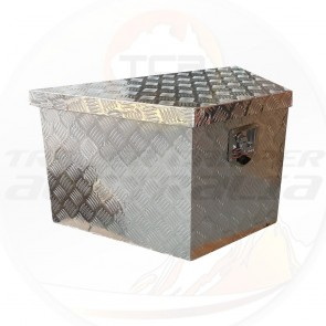 Aluminium Tool Box - Draw Bar Mounted 865 x 365 x 560mm Camper Box Trailer