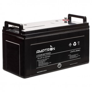 Amptron 150Ah 12V Lithium Iron LiFePO4 Battery 100A BMS Prismatic Cell Balancing