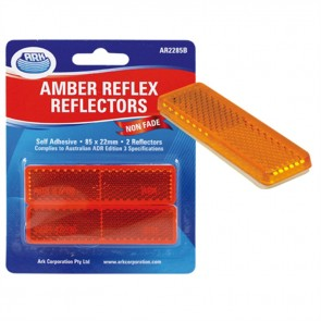 2x Ark Amber self adhesive reflector 22 x 85mm