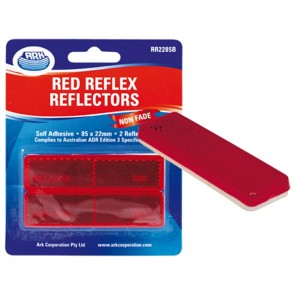 2x Ark Red self adhesive reflector 22 x 85mm