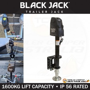 Black Jack 12V Electric Automatic Trailer Jack with Clamp