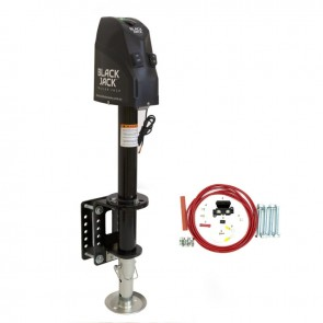 Black Jack 12V Electric Automatic Trailer Jack with Clamp & Wiring Harness