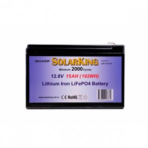 Solarking 15Ah 12V Lithium Battery LiFePo4 Built-in BMS