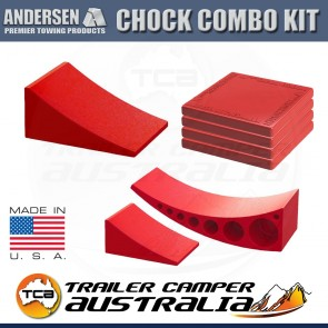 Andersen Ultimate Camper Leveler Tuff Pad Wheel Chock Combo Kit Caravan Trailer