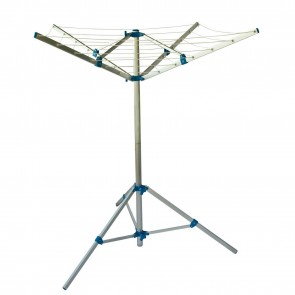 CARAVAN FOLDING CLOTHES LINE AIRER LIGHTWEIGHT ALUMINIUM WITH PEGS & BAG