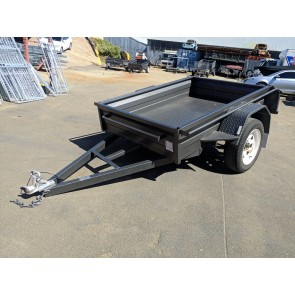 6x4 Heavy Duty Box Trailer 300mm Sides Box Chassis 5 Leaf springs