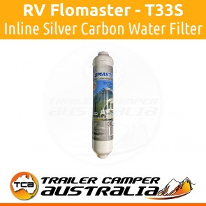 RV Flomaster Inline Silver Carbon Water Filter T33S