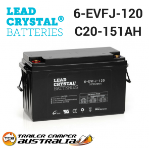 EVFJ-120 Lead Crystal 12v Deep Cycle battery