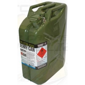 MISTER CANS 20L Metal Jerry Can Green Unleaded Diesel Fuel Petrol