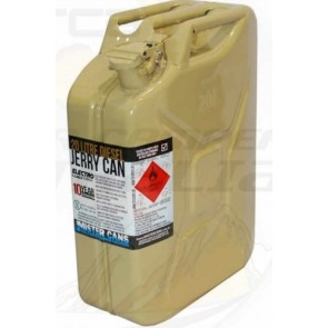 MISTER CANS 20L Yellow Metal Jerry Can Diesel Fuel Petrol