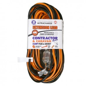 Ultracharge Heavy Duty 20M 15A Extension Lead Cord