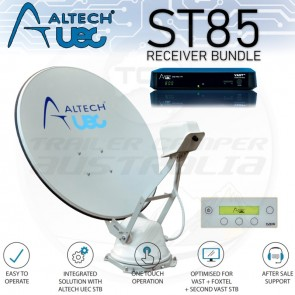 Altech UEC ST85 Automatic Satellite Dish Bundle with Receiver