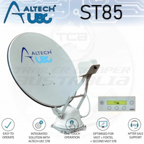 Altech UEC ST85 Self-Pointing Satellite TV Dish System for Vast Foxtel Caravan