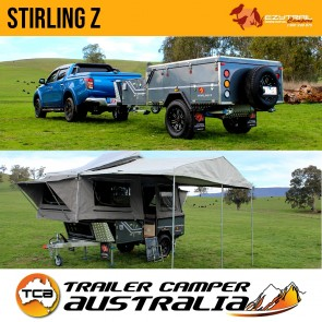 Ezytrail Stirling Z Off Road Camper Trailer Lightweight Forward Folding