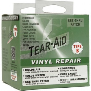 Tear Aid Type B 10ft Roll Vinyl repair Tape rips tears holes patch kit 7.5cm x 3m