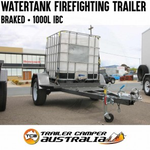 Water Tank Firefighting Trailer Braked 1000L IBC Cart