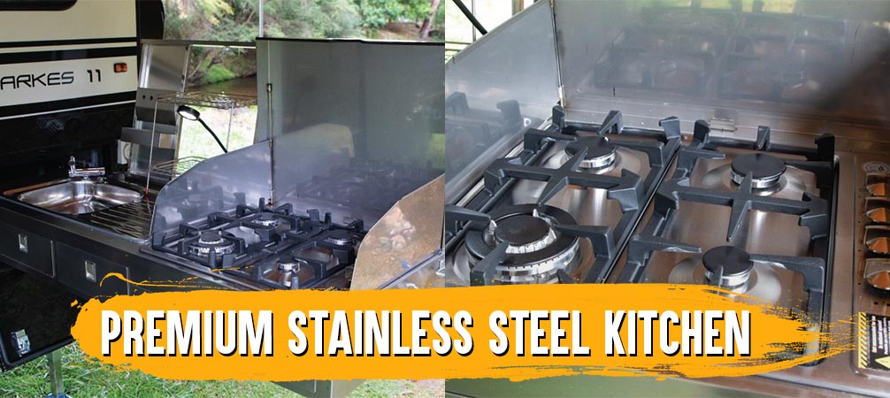 The brilliant 4-burner gas stove is constructed from stainless steel, so it's easy to clean and will look great for years to come.