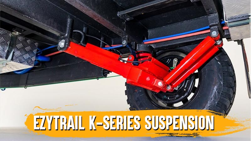 The Ezytrail Parkes 11 off-road caravan features the famous Ezytrail K-Series independent suspension system.