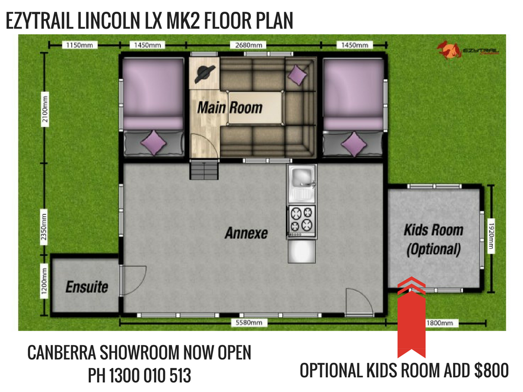 Ezytrail Lincoln LX MK2 Floor Plan
