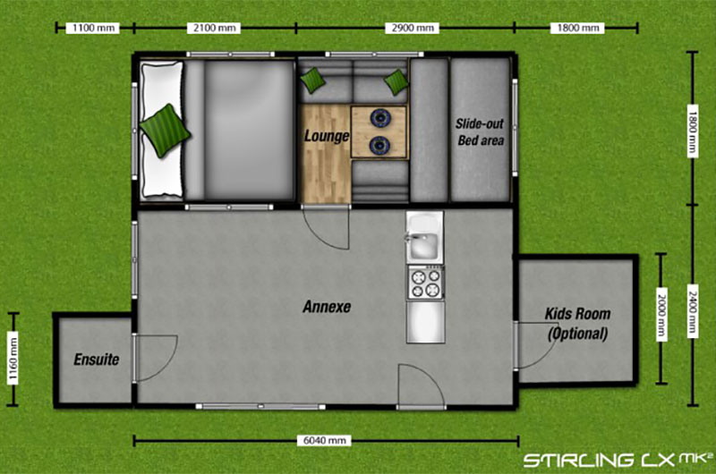 Ezytrail Stirling LX MK2 Floor Plan